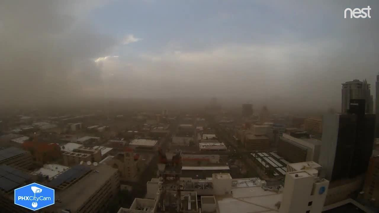 Monsoon time-lapse from Phoenix City Hall