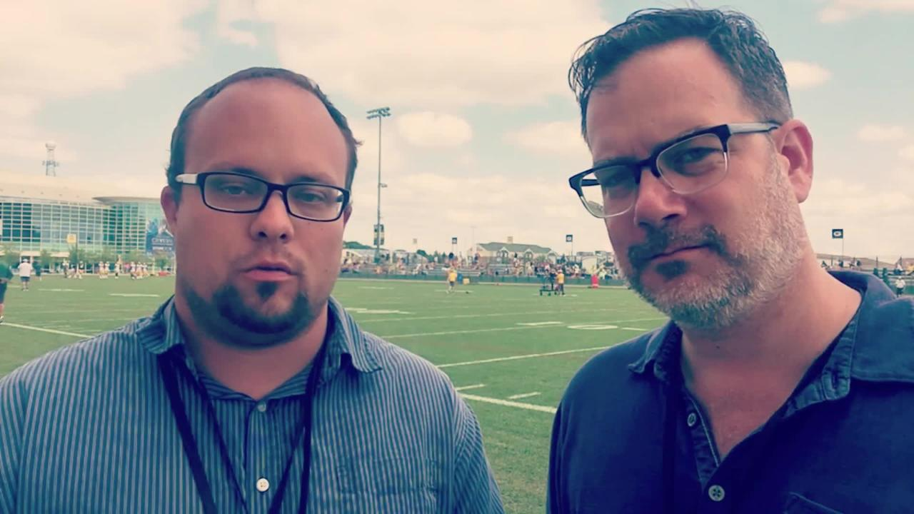 Ryan Wood and Aaron Nagler talk about everything that happened on Ray Nitschke Field on Friday, including a photobomb from a Packers receiver.