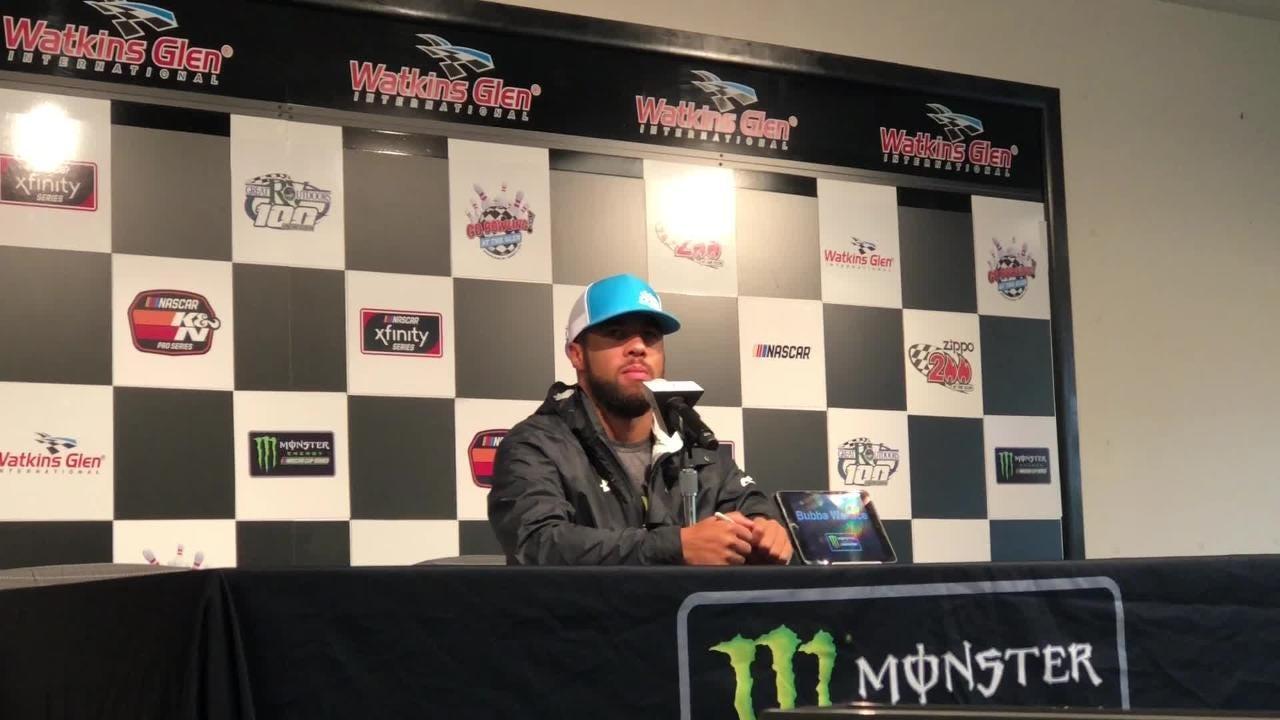 "Darrell ""Bubba"" Wallace Jr. talks about how he feels Aug. 3 at Watkins Glen International after a hard crash at Pocono Raceway five days earlier."