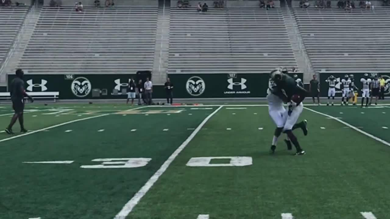 Rams work on passing game in drills before first scrimmage