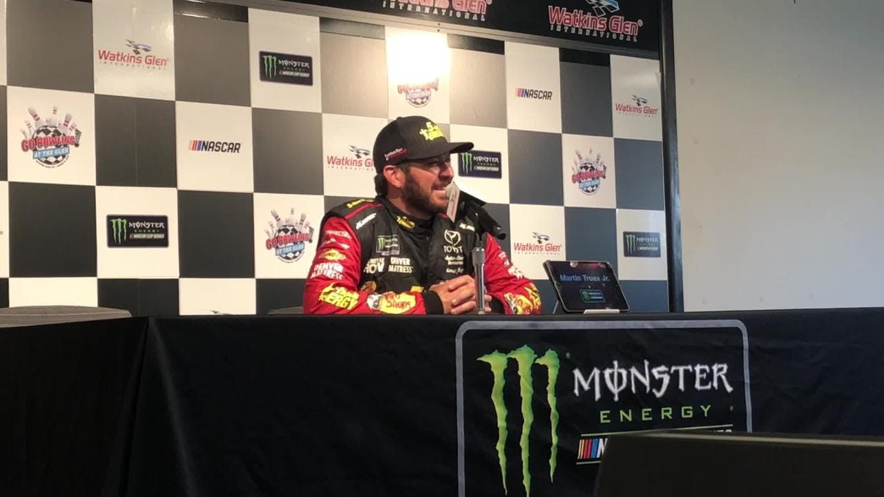 Martin Truex Jr. talks about going for his second straight win at Watkins Glen and third in a row on a road course during a media session Aug. 4.