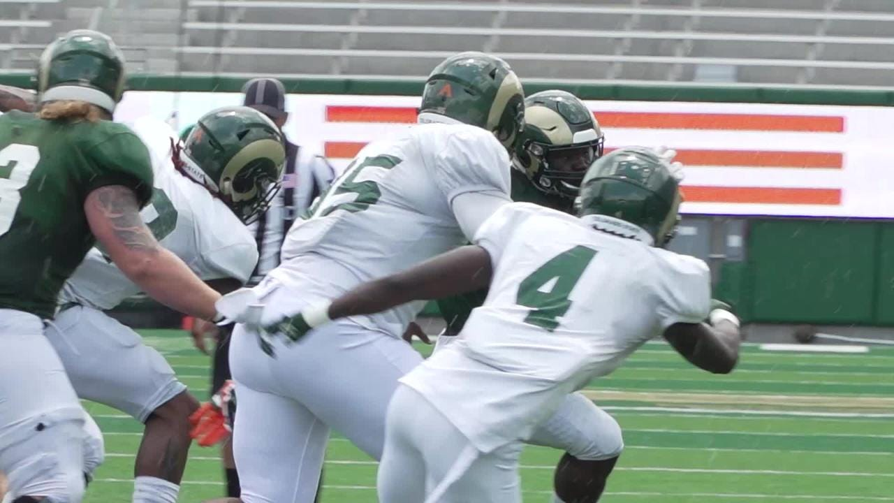 Highlights, provided by CSU, from the Rams first scrimmage in preparation for the 2018 season