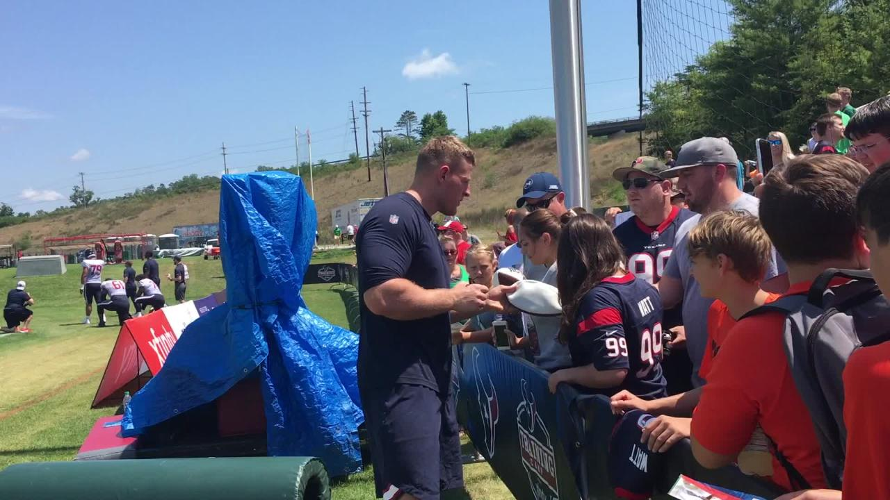 J.J. Watt, Houston Texans Light Up Fans' Lives at Greenbrier Camp