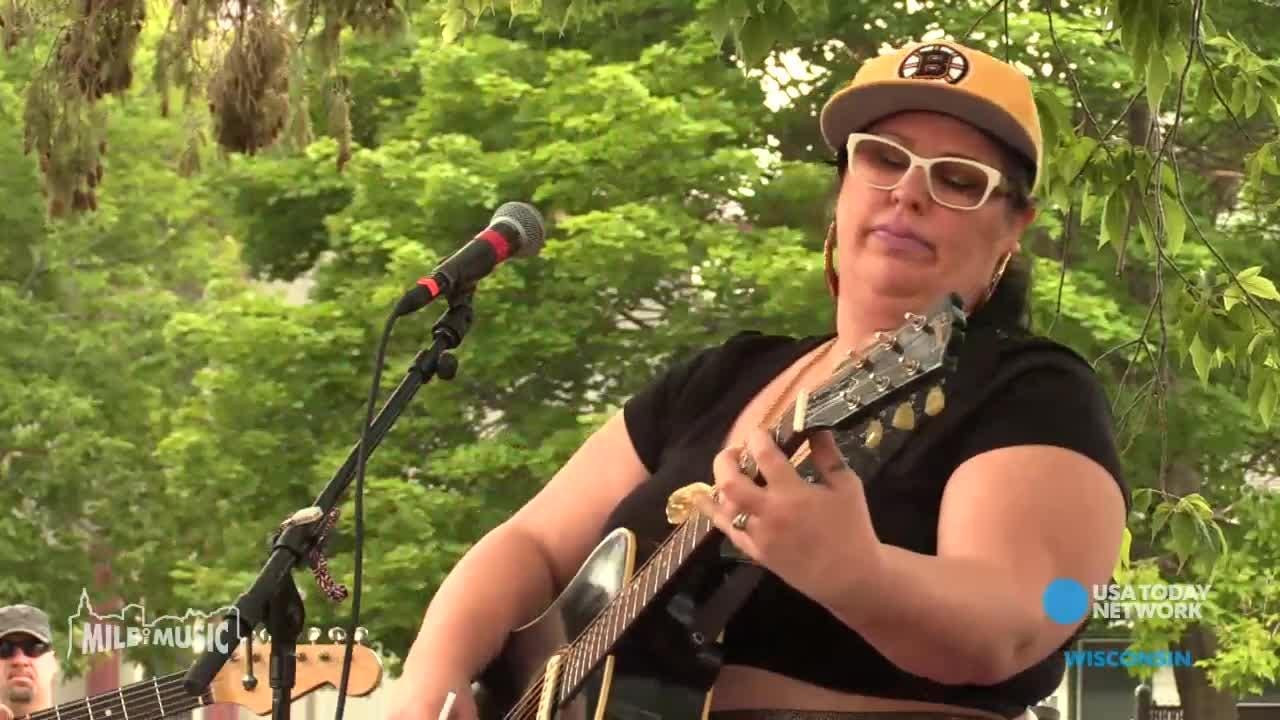 Sarah Potenza of Nashville performs at the Fox River House during the Mile of Music festival.
