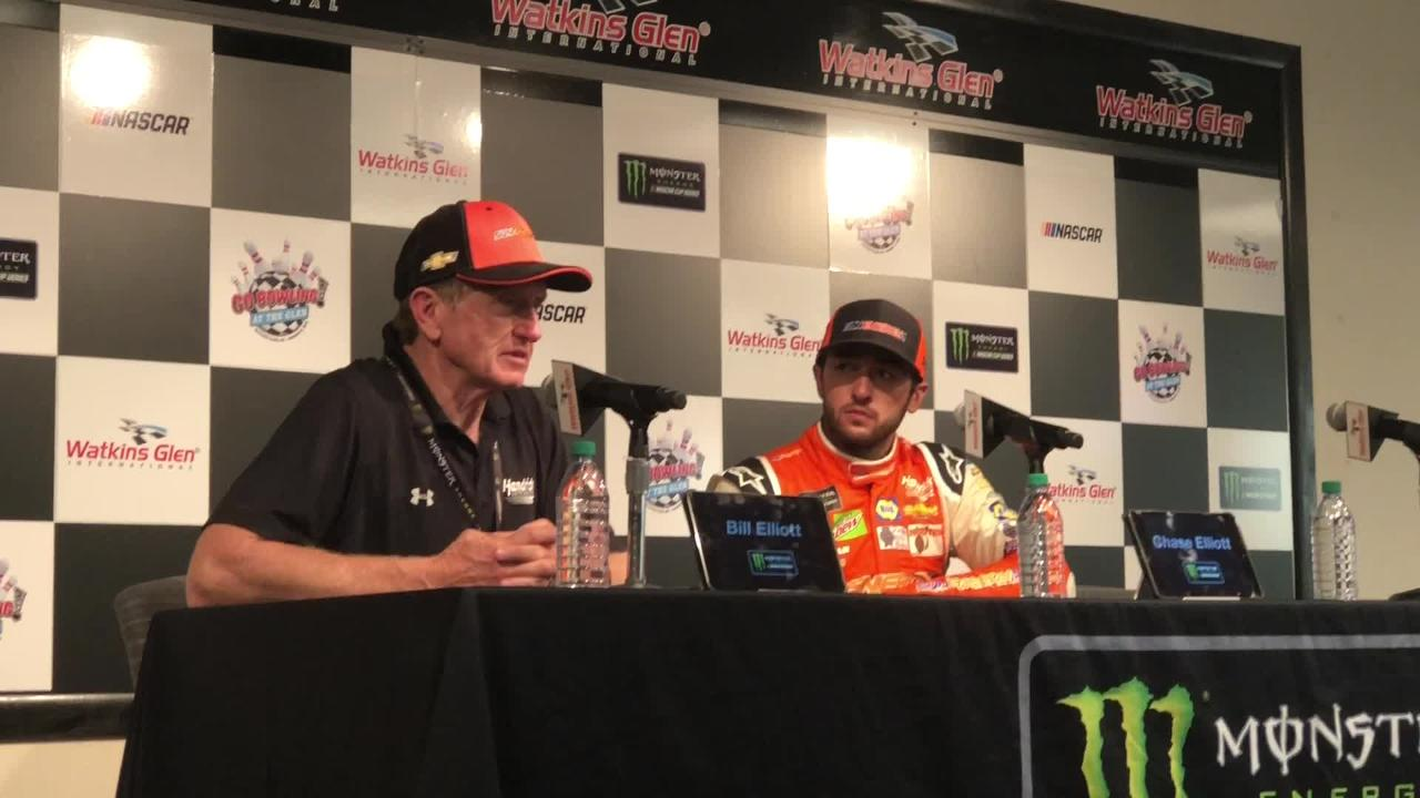 NASCAR Hall of Famer Bill Elliott talks about his son, Chase, earning his first career Cup victory Aug. 5 at Watkins Glen International.