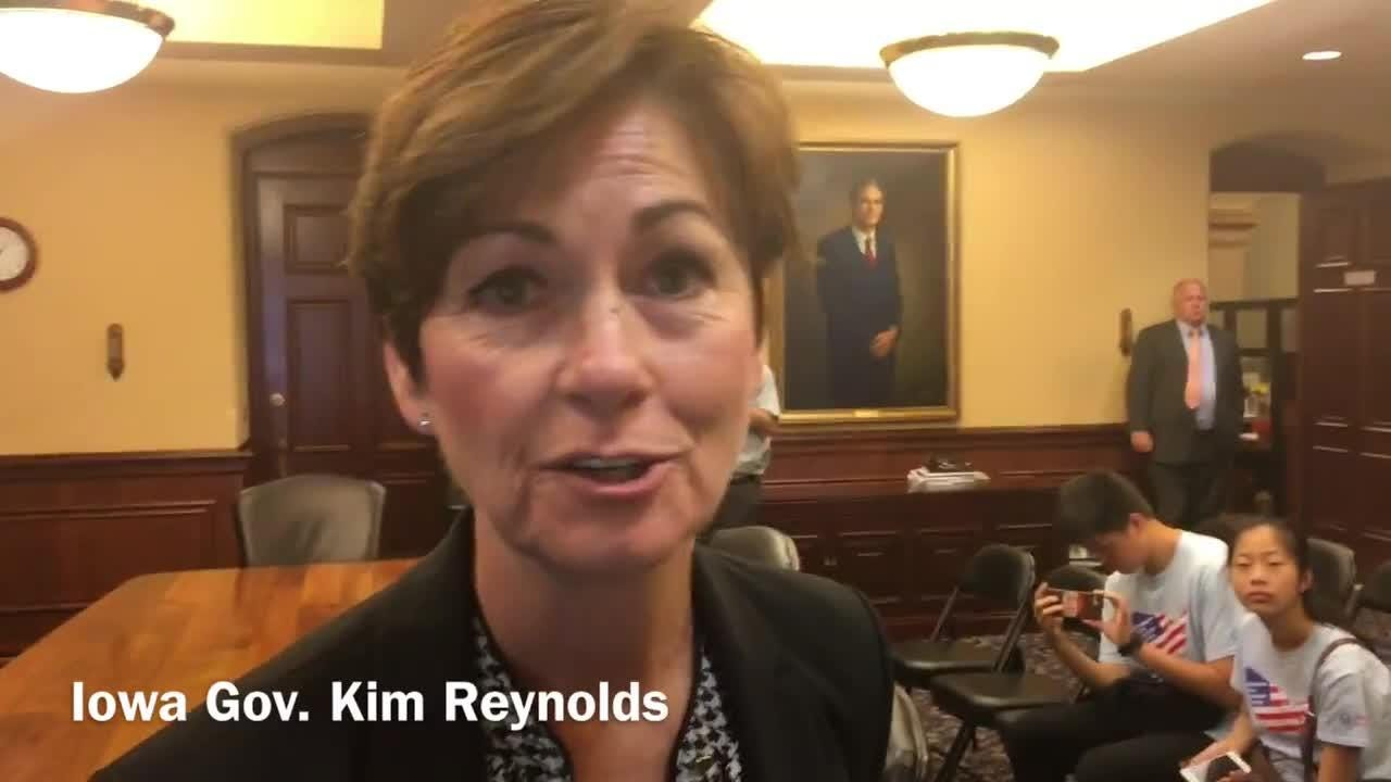 Gov. Kim Reynolds says the abortion issue was not discussed with Iowa Supreme Court nominee during selection process.