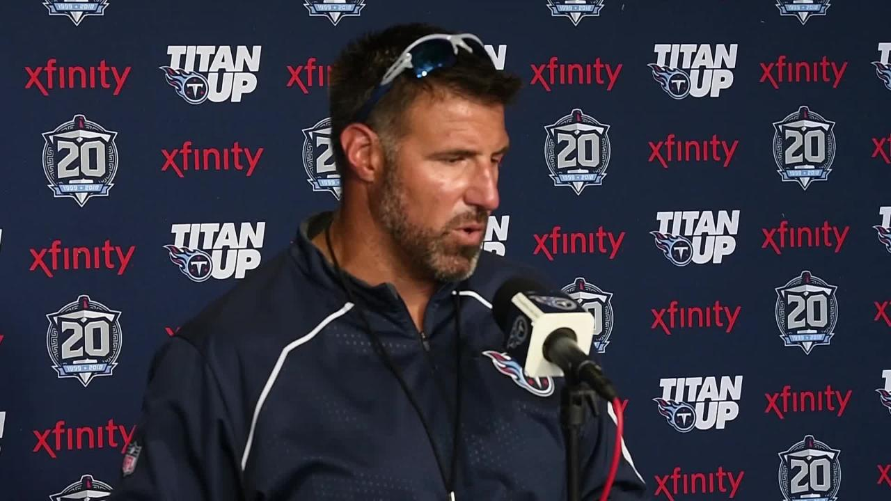 Titans head coach Mike Vrabel looks ahead to first preseason game against the Packers.