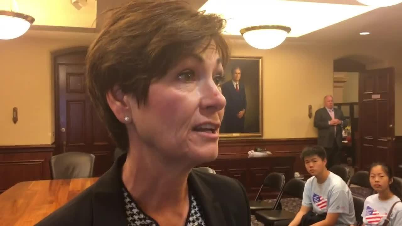 Iowa Gov. Kim Reynolds says she's not retreating from accessibility to Iowa news media, even though she hasn't held a regular weekly news briefing since July 18.