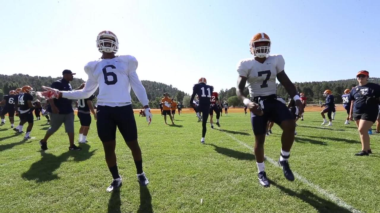 UTEP holds their third practice at Camp Ruidoso Monday morning.