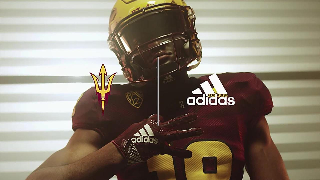 ASU and adidas unveiled a new look for 2018 with the Primeknit #A1 football jersey.
