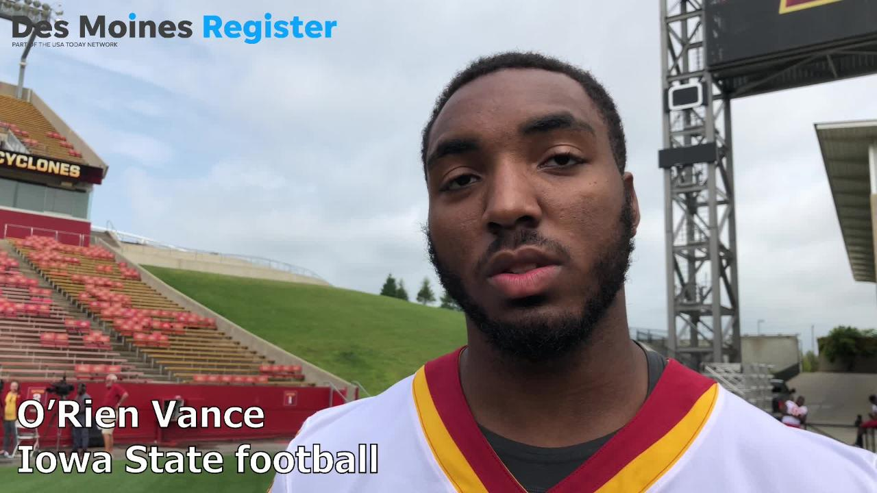 Iowa State's O'Rien Vance talks about what he learned during his redshirt season last year.