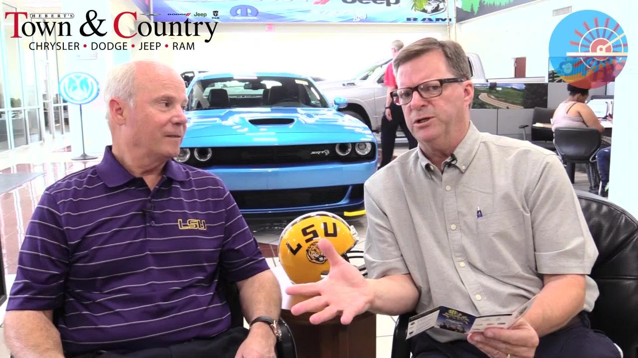 Glenn Guilbeau and Mark Hebert take a look at what appears to be a pretty tough LSU Football schedule for the 18-19 season.