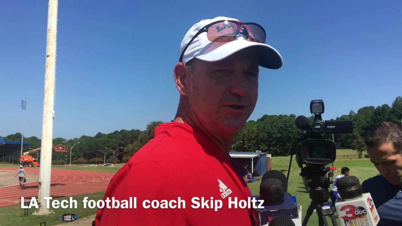 Louisiana Tech head coach Skip Holtz discusses the play of freshmen early on in preseason practice.