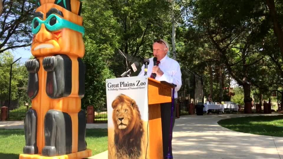 T. Denny Sanford talks about why he donated $1 million to the Great Plains Zoo lions exhibit.