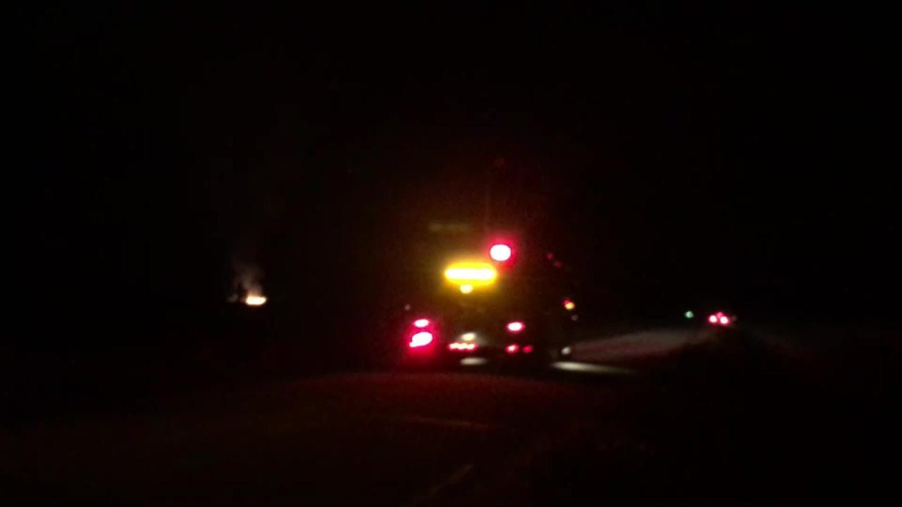 Emergency crews responded to a fire at a Hobart farm on Aug. 7, 2018.