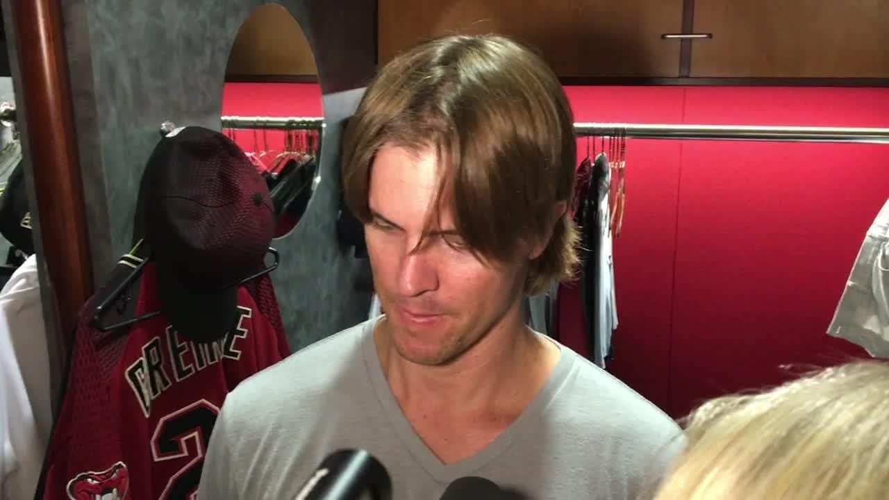 Zack Greinke on seven-inning effort vs. Phillies
