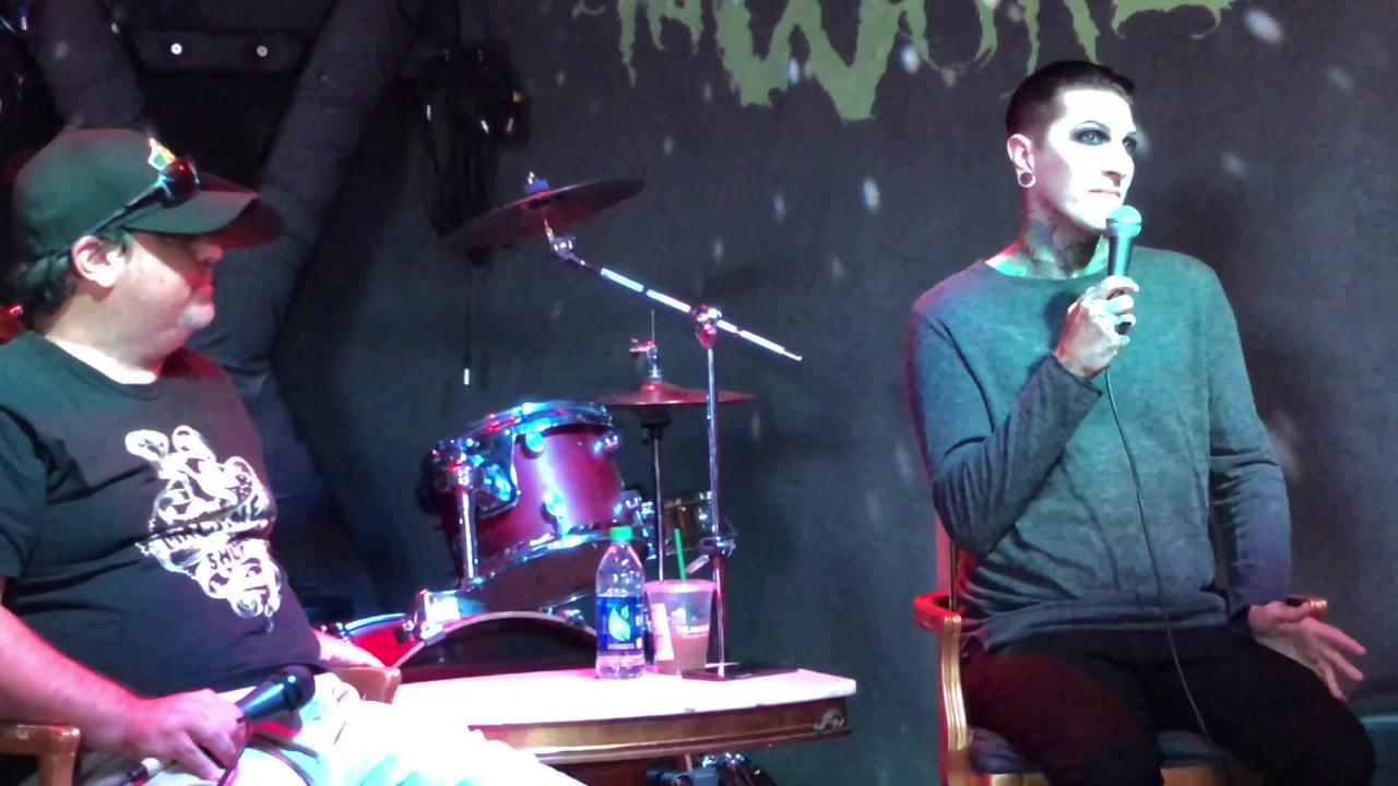 Chris Motionless of Motionless in White talks about plans for a new album. He appeared Monday at HOWL for a Q&A with radio personality Jeff Zito.