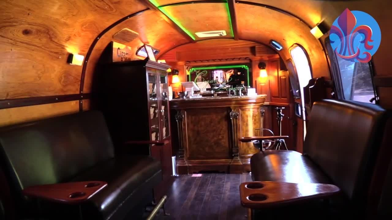 Johnny Johnson converted an Airstream trailer into a mobile cigar lounge that he brings to festivals and private events.