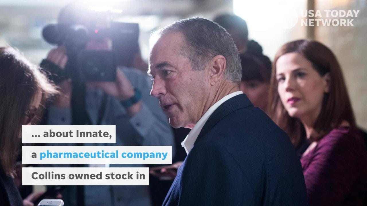 New York Rep. Chris Collins, a Republican from Erie County, was arrested and charged with orchestrating an insider-trading scheme on Aug. 8.