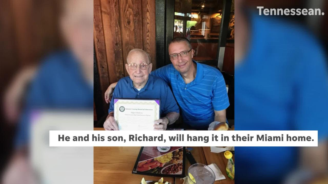 Portland, Tennessee native was surprised with an honorary high school diploma, almost 80 years later.