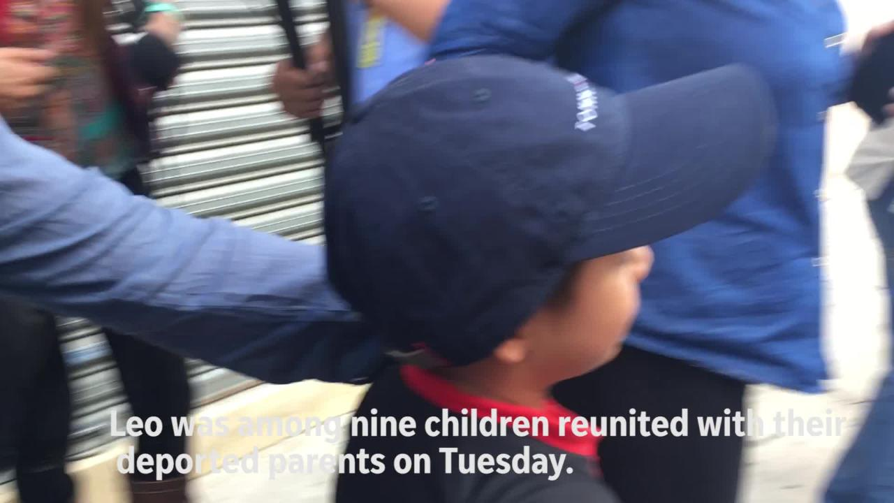 Migrant boy, deported mom reunite in Guatemala