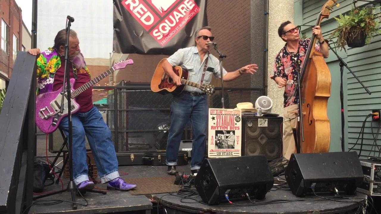Popular Vermont honky-tonk band celebrating its 20th anniversary performs at Red Square on Church Street in Burlington on July 13, 2018
