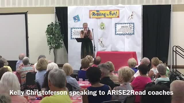 ARISE2Read coordinator Kelly Christoferson discusses some of the importance of the program.