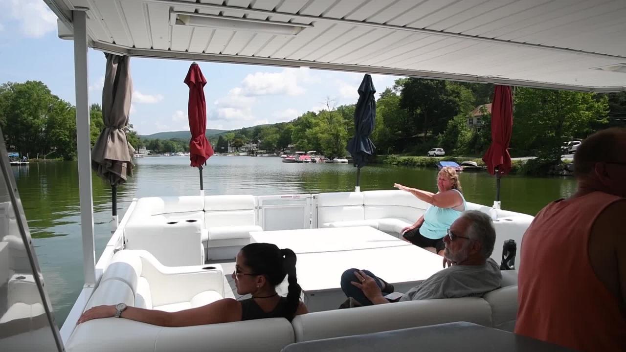 Video: Boat tour of Greenwood Lake