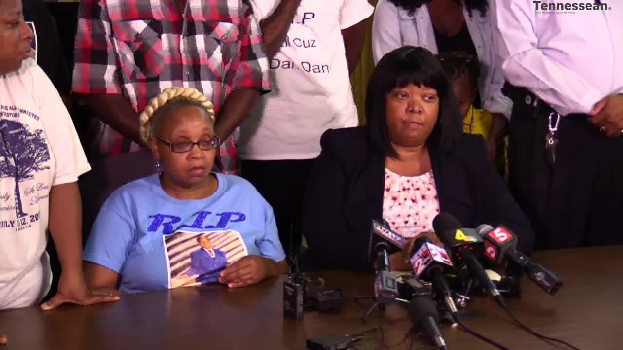 The NAACP held a press conference with the family of Daniel Hambrick, who was shot by a Nashville police officer, following an earlier announcement.