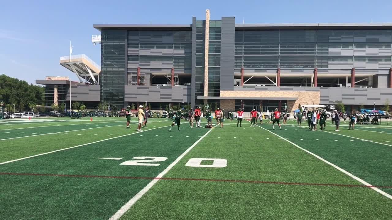 Sophomore has been cleared to participate in more and more activities in practice every day while recovering from torn ACL, coach Mike Bobo says