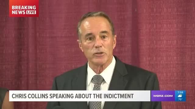 Chris Collins held a press conference following his indictment on insider trading charges and said that he is innocent.