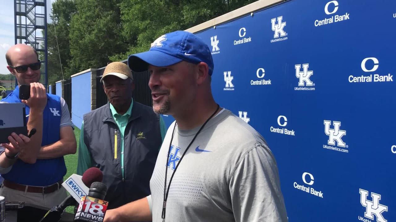 Kentucky football DC Matt House talks first week of camp