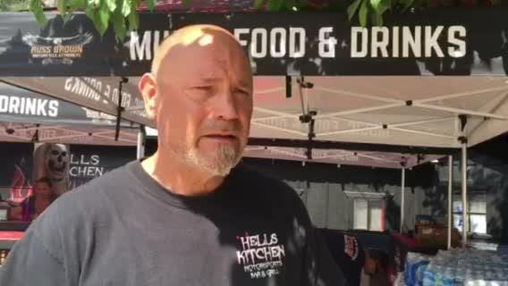 Frank Opp, co-owner of Hell's Kitchen Motorsports Bar & Grill on Highway 74, lets firefighters use his place as home base. He's organizing a GoFundMe for the firefighters.