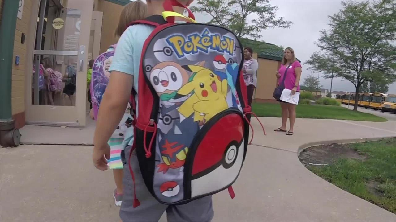 Video: Fishers student wearing a Go Pro camera shows first day of school at his level