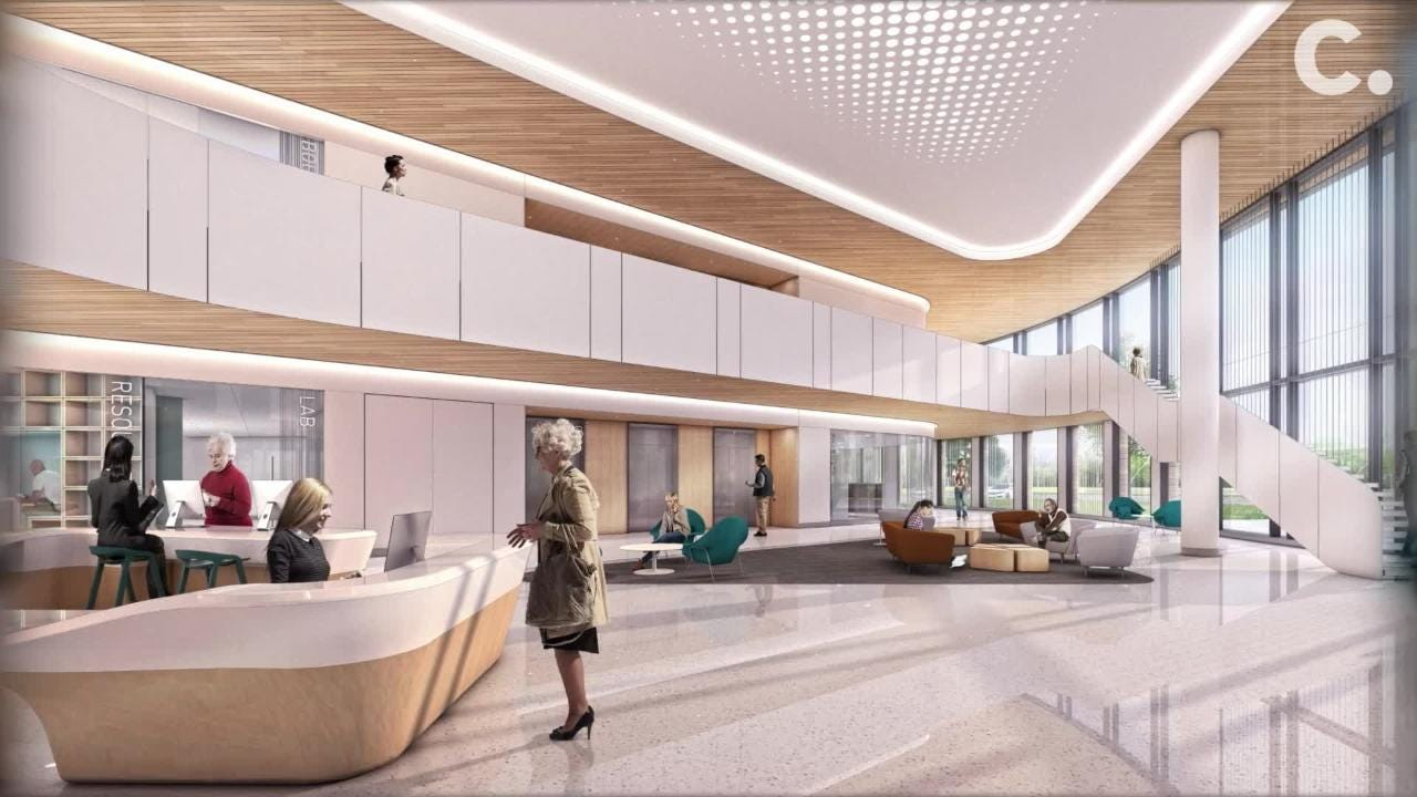 2020 is the projected opening date of the five-story Cancer Center at the main St. Elizabeth campus in Edgewood.