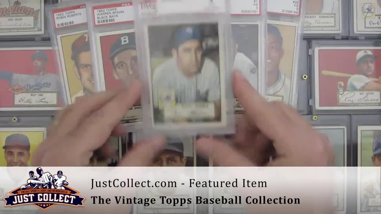 Just Collect Inc. shows off their Vintage Topps baseball card collection.