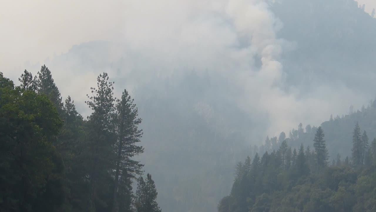The Hirz Fires, which are three separate fires, were burning Thursday off Gilman Road north of Redding in the Shasta-Trinity National Forest.