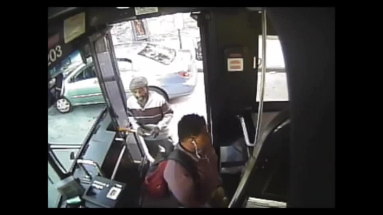 Footage of the brutal 2017 attack on Bee-Line bus driver Denver Thompson.