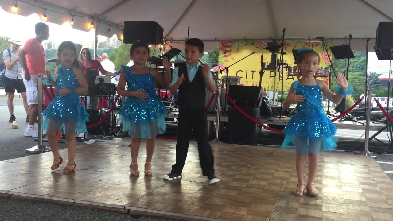 A performance from Salsa Night at City Place in Edgewater.