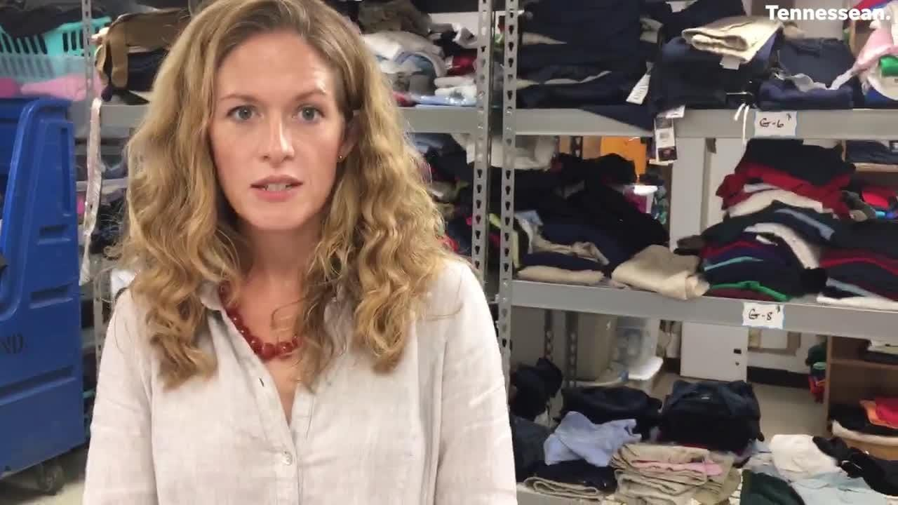 Jami Oakley talks about the UniCycle program that gives school uniforms to homeless students