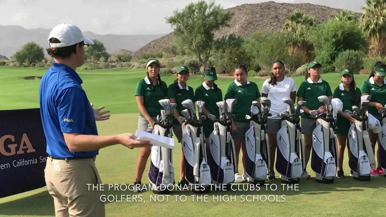 The SCPGA Foundation donated 23 sets of new golf clubs to golfers at Coachella Valley and Indio high schools Friday