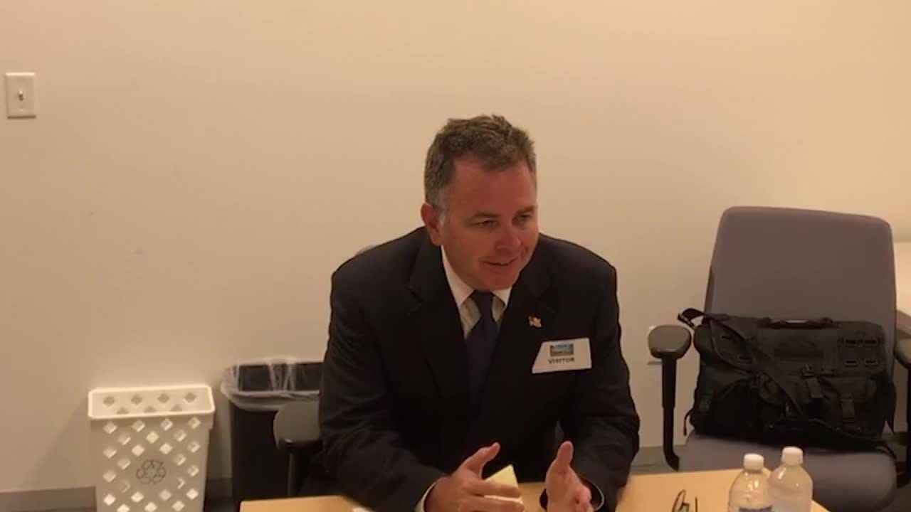 State Attorney candidate and former prosecutor Chris Crowley talks to the Naples Daily News editorial board on Monday, July 23, 2018.