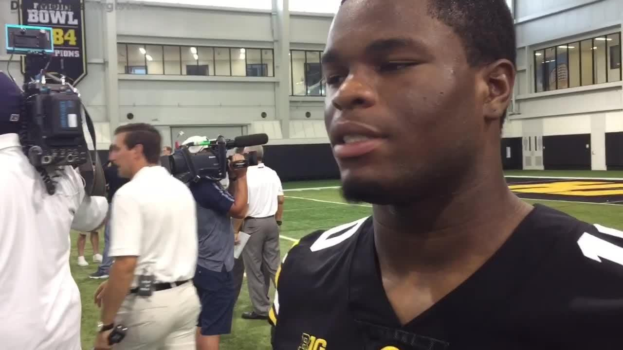 Mekhi Sargent discusses Iowa's running back room and his adjustment to the Hawkeyes program.