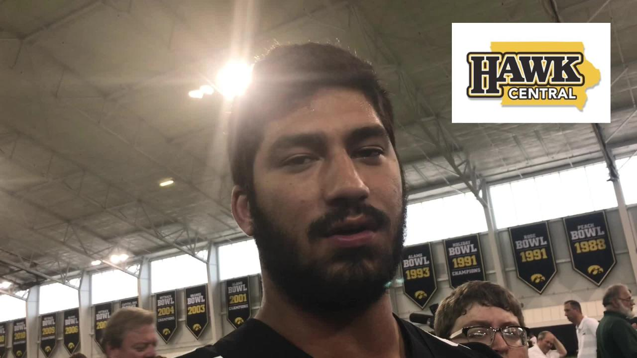 Iowa Hawkeye A.J. Epenesa assesses his freshman season