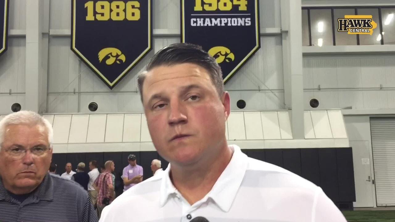 Brian Ferentz talks Hawkeye running backs, visit to New England Patriots