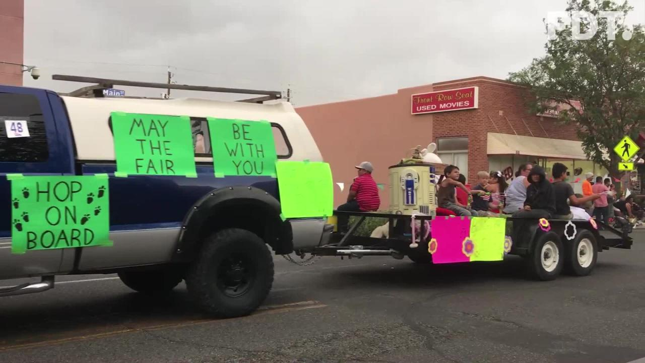 The San Juan County Fair Parade serves as a preview opportunity for the fair.