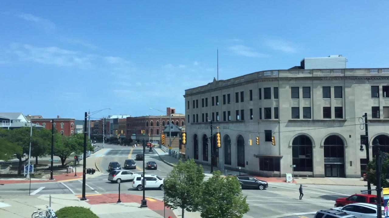 Check out the traffic on Military Street during one hour from 11:50 a.m. to 12:50 p.m. on Saturday, Aug. 11, 2018