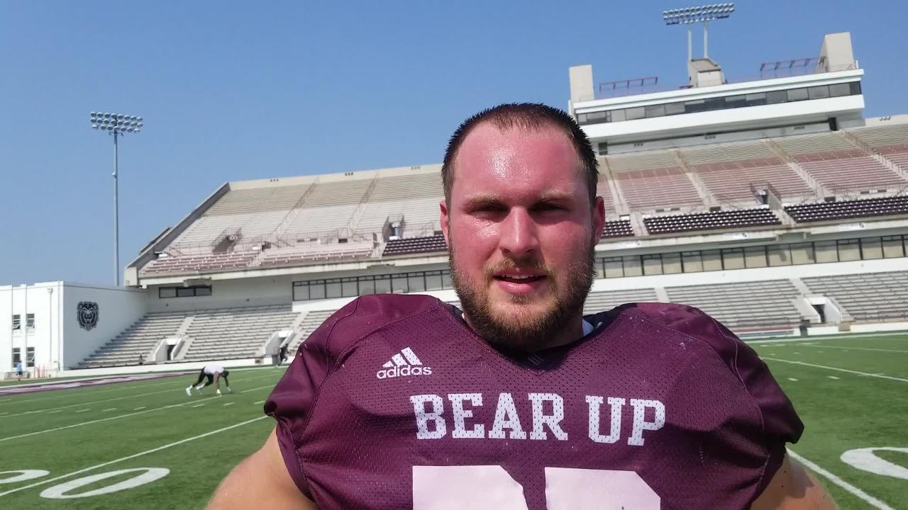 Missouri State defensive end Skyler Hulse talks about the new guys on the Bears' defensive line following Saturday's scrimmage.