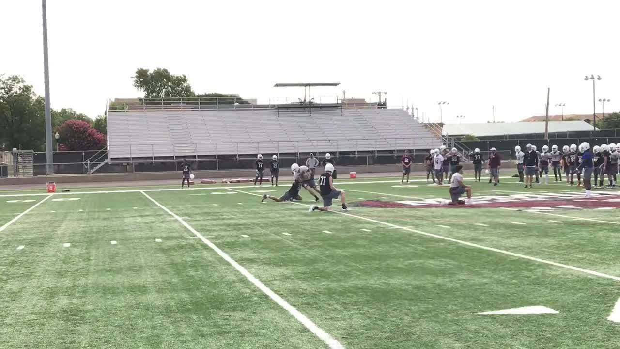 2018 McMurry Football First practice highights