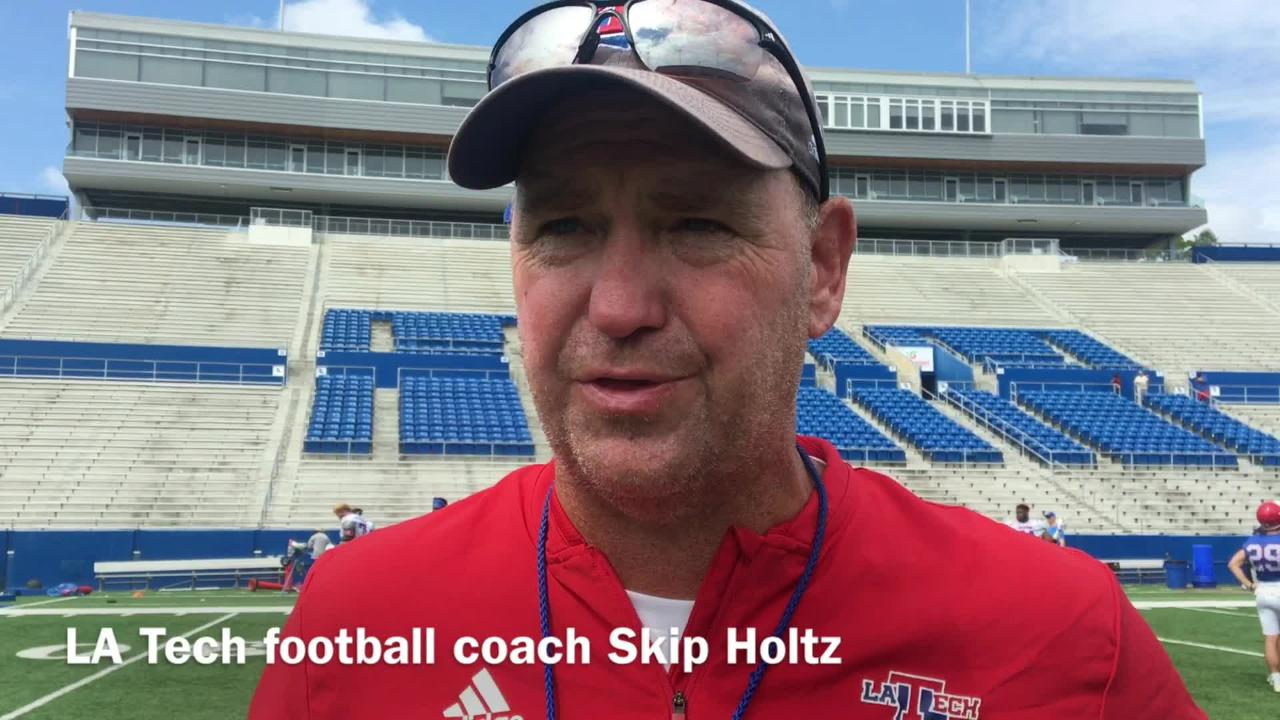 Skip Holtz lays out what he saw from LA Tech's young guys in first scrimmage